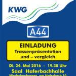 Einladung Trassenpräsentation 24.Mai 2016